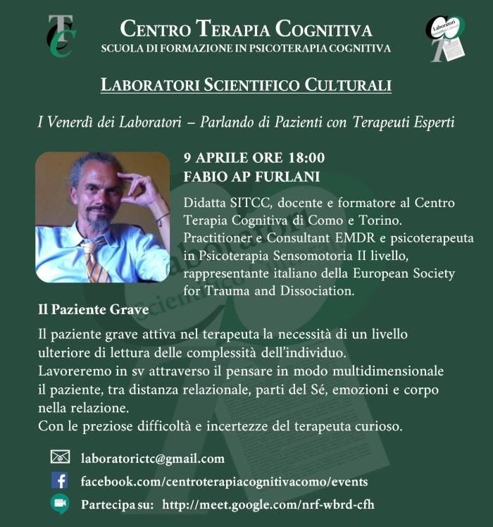 2021.4.9 Fabio Furlani - Il Paziente Grave